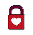 isolated padlock design vector image vector image