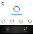 letter q for digital logo marketing financial vector image vector image