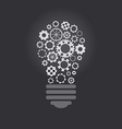 Lightbulb with cogwheels vector image vector image