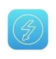 Lightning arrow downward line icon vector image
