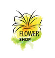 logo for selling flowers abstract vector image vector image
