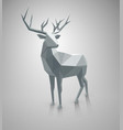 low poly deer with space for text vector image vector image