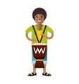 Man playing Djembe African music Flat vector image vector image