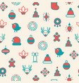 merry christmas symbols seamless pattern vector image