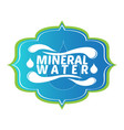 mineral water label vector image