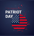 national usa patriot day united states flag banner vector image vector image