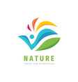 nature people concept design abstract human vector image vector image