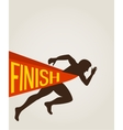 number one winner at a finish line vector image vector image