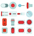 On off switch web buttons icons set cartoon style vector image vector image