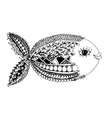 Ornate fish zentangle style for your design