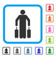 passenger luggage framed icon vector image vector image