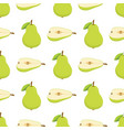pattern with green pears vector image