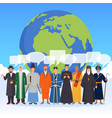 people from world religions flat composition vector image