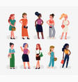 quality character design on diverse group of vector image vector image