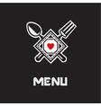 restaurant menu design vector image vector image