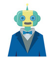 robot wears suit vector image