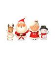 santa with family celebrate holidays vector image
