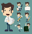 Set of businessman characters poses office worker vector image vector image