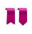 set of crimson decorative ribbons vector image vector image