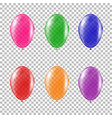 set of transparent colorful helium balloon vector image
