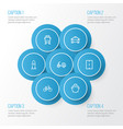 shipment outline icons set collection of vector image vector image