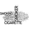 smoker word cloud concept vector image vector image