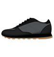 sneaker sport shoes side view on white background vector image vector image