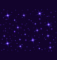 starry sky with bright and dim stars dark star vector image