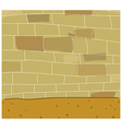Street Brick Wall vector image vector image