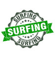 surfing stamp sign seal vector image vector image