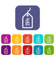 tag with 25 discount icons set vector image vector image