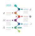 timeline infographics broken line vector image