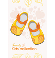 Trendy kids shoes vector image