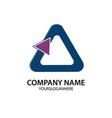 triangle business logo vector image vector image