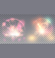 two colorful light effects vector image vector image