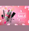 web page design template for spring sale vector image vector image