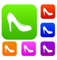 women shoe with heels set collection vector image vector image