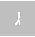high boot computer symbol vector image