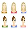 Set of make up patterns vector image