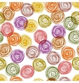 Colorful doodle circles simple geometric seamless vector image