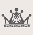 crown royal diadem or heraldic tiara with pattern vector image