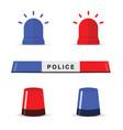 police light icon set vector image