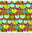Seamless Pattern With Vintage Apples vector image