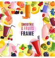smoothie frame background vector image