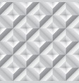 3d geometric pattern with pyramids abstract gray vector image vector image