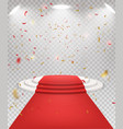 abstract festive background with 3d three-step vector image