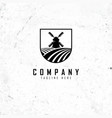 agriculture logo design template vector image vector image