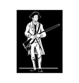 american revolution soldier patriot with rifle vector image vector image