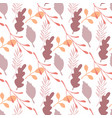 autumn leaves and branches seamless pattern on vector image vector image