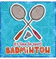 Badminton sketch background vector image vector image